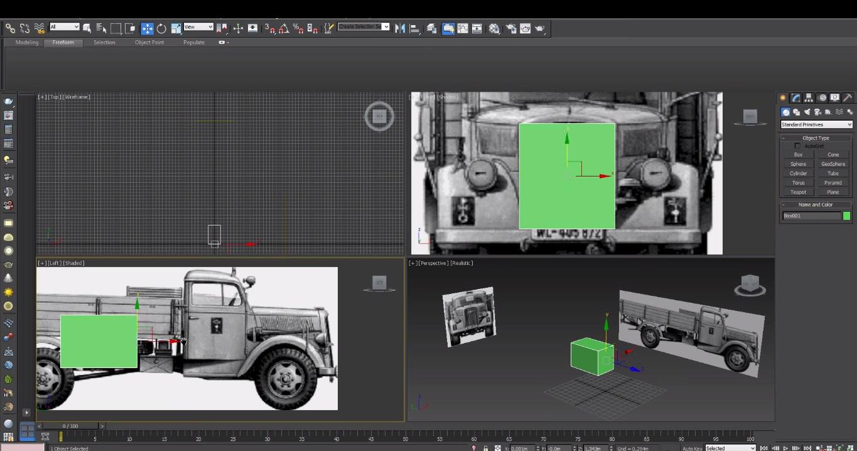 работа с 3d модели в 3d max
